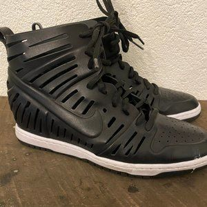 Nike Sky Hi Wedge 2.0 Joli Black cut out sneakers
